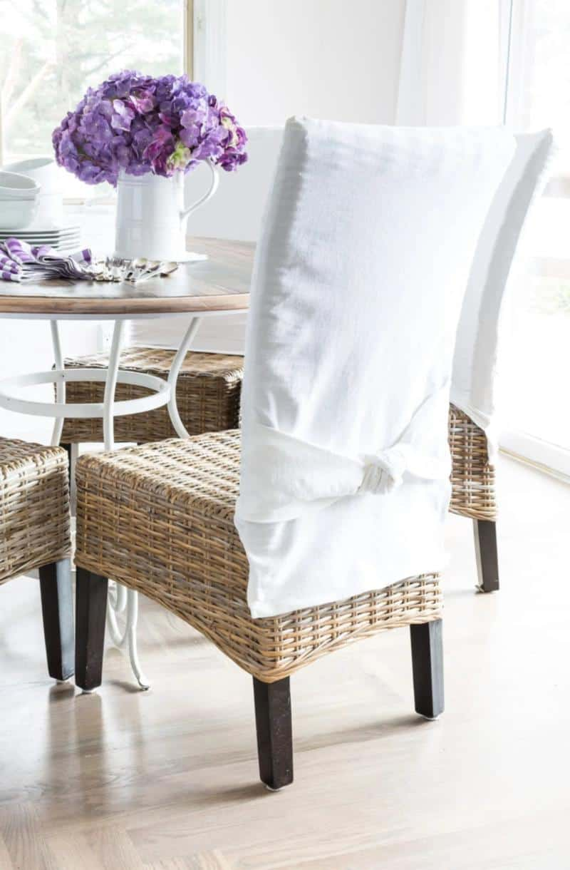 How To Make Slipcovers for Dining Room Chairs without Arms