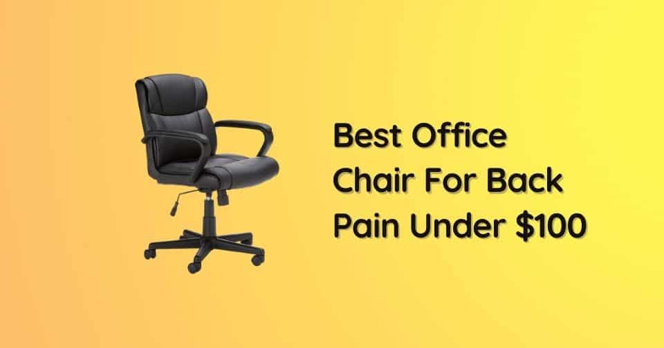 What Is The Best Office Chair For Back Pain Under $100