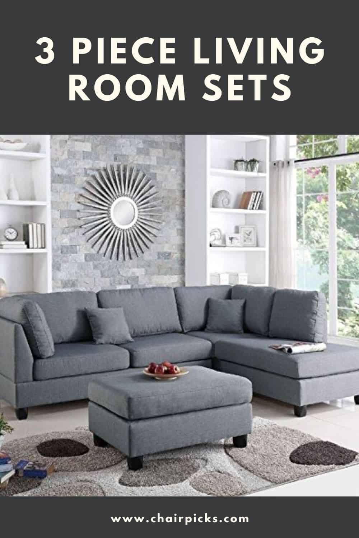 3 Piece Living Room Sets